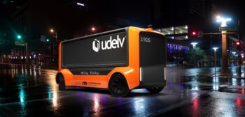 In April 2021, Udelv announced that Mobileye Drive, Mobileye's self-driving system, will drive the company's Transporters, Udelv's next-generation autonomous delivery vehicles. Udelv and Mobileye plan to produce more than 35,000 Mobileye-driven Transporters by 2028, with commercial operations beginning in 2023. (Photo: Udelv)