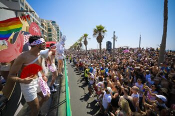 Scene from the The 2019 Tel Aviv Pride Parade. Photo by Guy Yechiely.