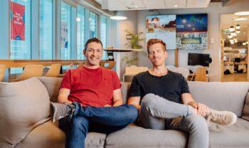 Monday.com founders Roy Mann, and Eran Zinman. Photo: Netanel Tobias