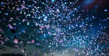 Confetti. Photo by Pablo Heimplatz on Unsplash