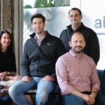 The At-Bay team from right to left: Joe Schiro, Head of People; Brett Sadoff, Head of Insurance; Roman Itskovich, Co-Founder and Chief Risk Officer; Rotem Iram, Co-Founder and CEO; Tara Bodden, General Counsel and Head of Claims; and Ayelet Kutner, Chief Technology Officer. Courtesy