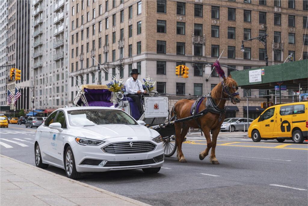 Mobileye's autonomous vehicle in New York City. Courtesy