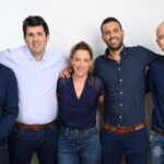 From right to left: Or Sela, co-founder and VP R&D, Uriel Katz, co-founder and CTO, Liora Katz Hirshler, COO, Tal Kreisler, co-founder and CEO, and Dvir Reznik, VP Marketing. Photo: David Garb, NoTraffic