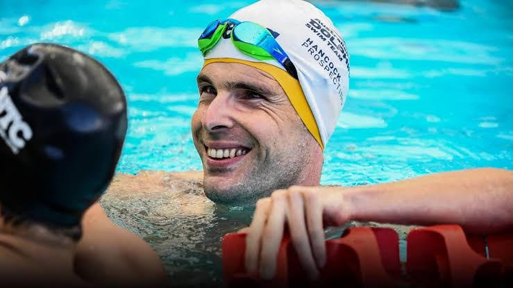 Paralympian Matt Levy in the pool. Courtesy