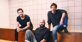 Tailor Brand founders from left to right: Tom Lahat, Nadav Shatz, and Yali Saar. Courtesy