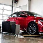 A UVeye system inspecting a car. Courtesy